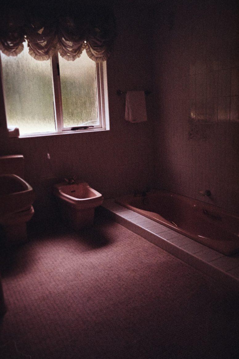 Bidet w różowej łazience