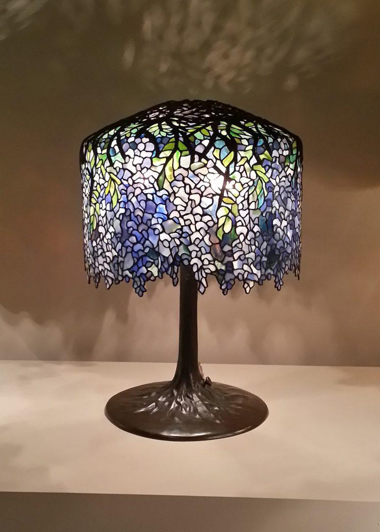 Zielononiebieska lampa Tiffany